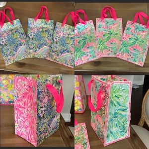 Set of six 11x8x6 Lilly Pulitzer shopping bags